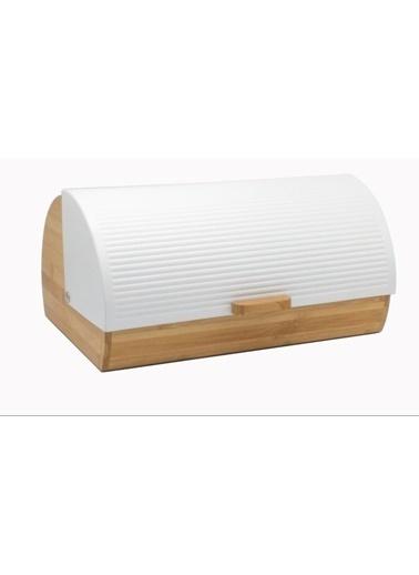 Bayev Ekmek Kutusu - Beyaz Çizgili Beyaz